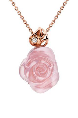 Dior Rose Quartz Necklace