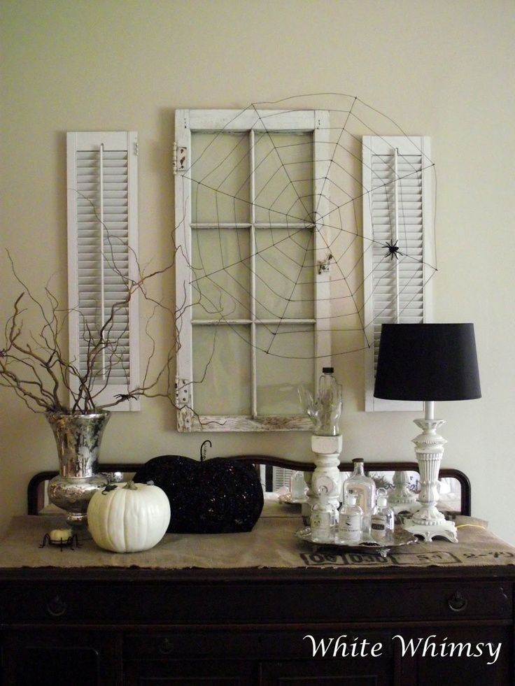 Marvelous I Know This Is For Halloween.but I Like The Window And Shutter Idea For  Decor! Black And White Halloween
