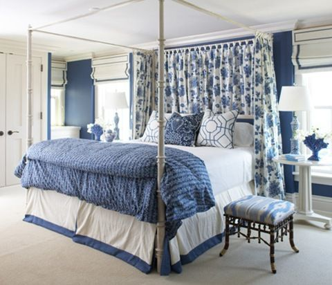 blue and white bedroom designed by cindy rinfret of rinfret ltd - Blue And White Bedroom Designs