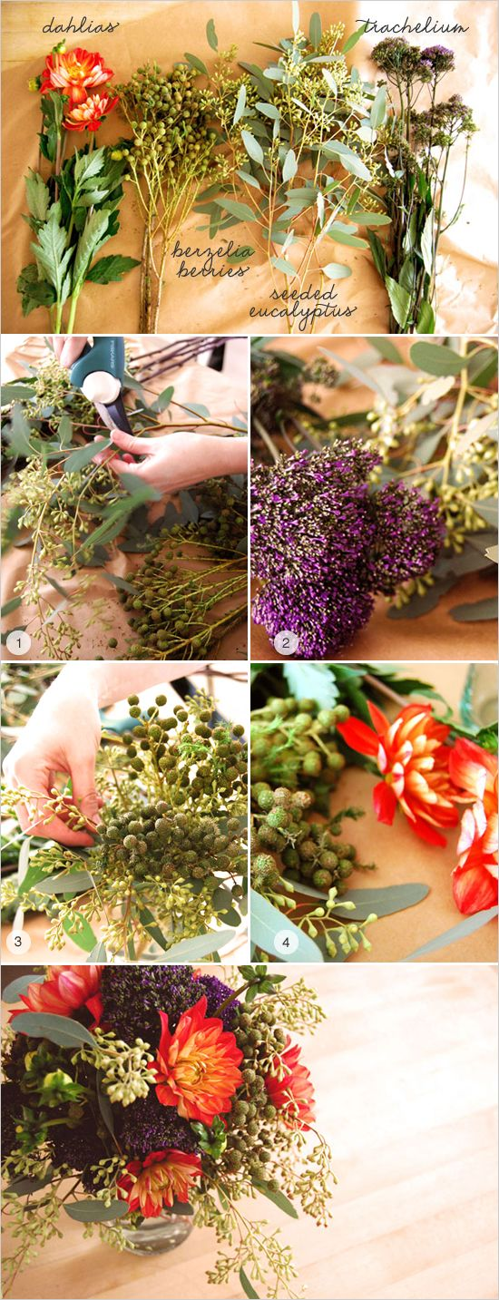 quick flower arrangment