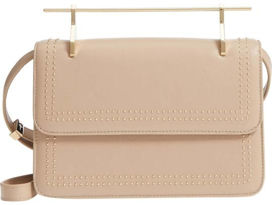 ea067fc15a82 M2Malletier Nwt- La Fleur Du Mal Studded S/S 2018 Beige Leather Shoulder Bag  - Tradesy
