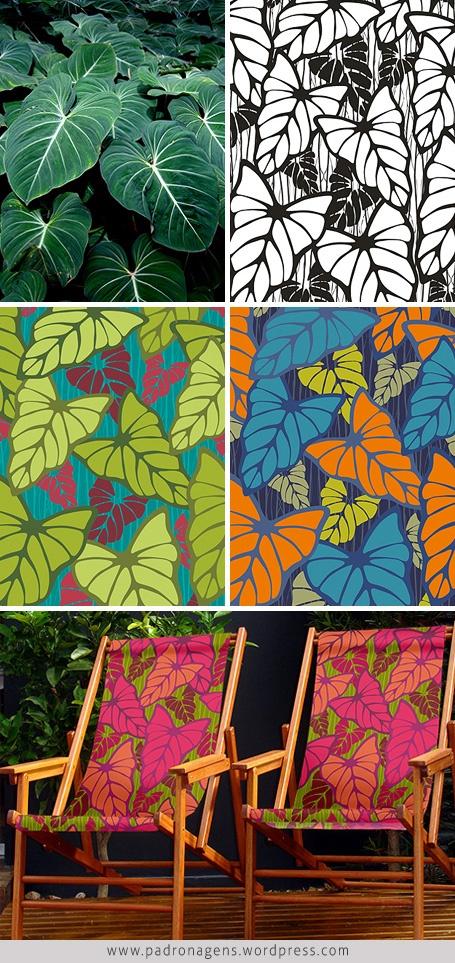 processo de criação de padrões  estampa filodendros