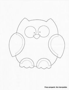 for quilt outline, embroidery or cut out and make a felt owl (sewing ...
