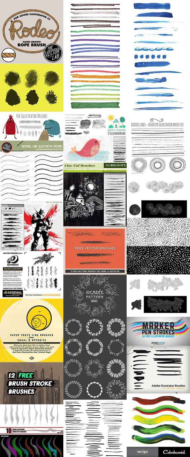 Brushes for Adobe Illustrator come in three types; Art Brushes, Pattern Brushes and Scatter Brushes. They're all used with the Brush tool, but they each have their specific purpose. Art brushes are the most common, they're applied to paths and are often used to create realistic hand drawn effects. Pattern brushes are configured to generate …