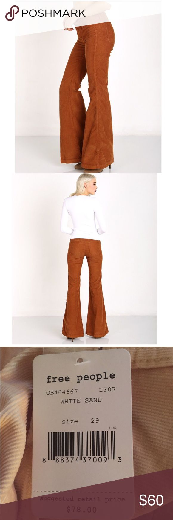 Free People Jolene Clean Cord Pants NWT. White Sand Cozy corduroy Free People flares. Actual color is pictured are the 2 last pictures. Open to offers! Free People Pants Boot Cut & Flare