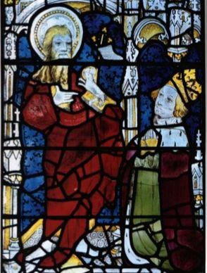 Título: Bautismo de Cristo Autor: Thomas Glazier Lugar: Capilla de Winchester College  Siglo: XV