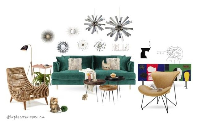 """Untitled #308"" by annie-qiu on Polyvore featuring interior, interiors, interior design, home, home decor, interior decorating, Umbra, Dot & Bo, mater and Kay Bojesen"