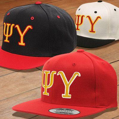 Psi Upsilon Classic Snapback Cap - Yupoong 6089