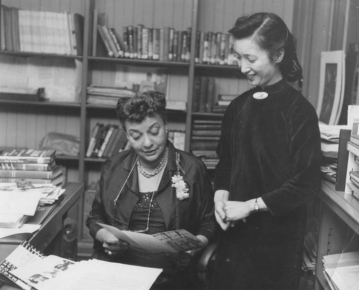 Regina Anderson Andrews, left, was the first African American to head a branch library in the New York Public Library system. She was appointed in 1938. Reprinted with permission from the Schomburg Center for the Study of Black Culture, New York.