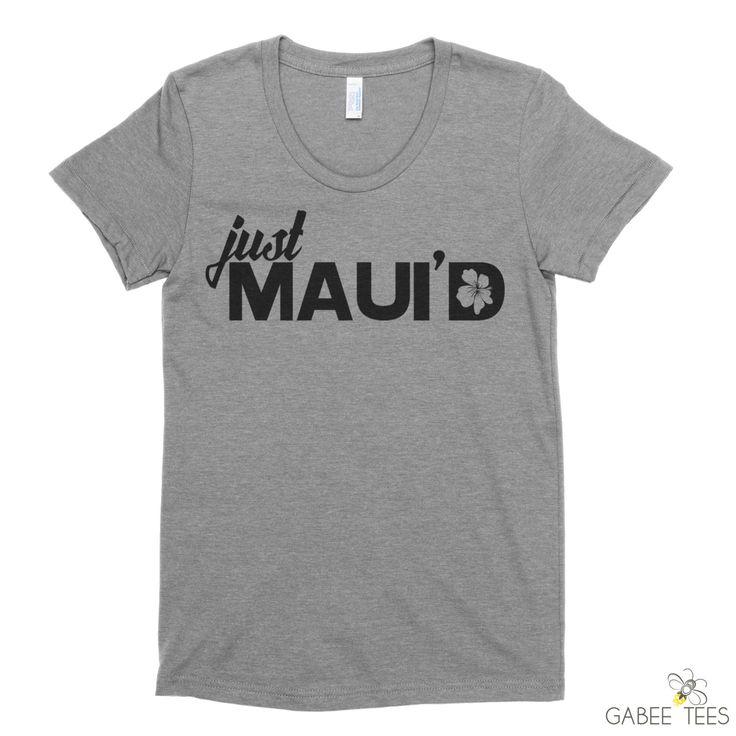 bridal shower gift ideas for bride philippines%0A Just Maui u    d Fitted TShirt  Just Married Shirt  Bride Tee  Destination  Wedding  Hawaii Honeymoon  Bridal Shower Gift  Wifey Shirt