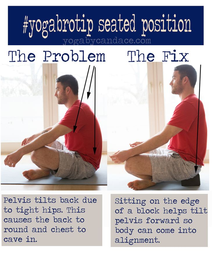 YOGA FOR MEN: Common problem with seated position and how to fix it.