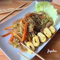 Comme une envie d'un voyage en Corée ... Japchae ... Nouilles de patates douces et légumes sautés