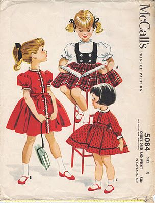 A lot of mothers sewed & we wore darling dresses like this to school. Little girls dress pattern cover