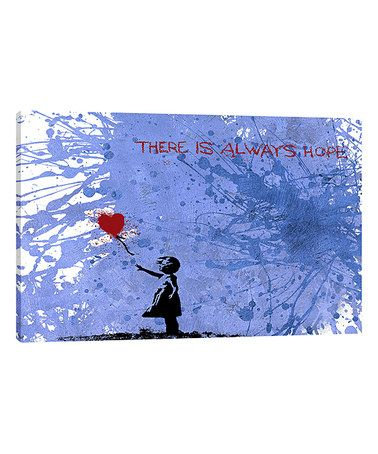 Look what I found on #zulily! Banksy Balloon Girl Wrapped Canvas #zulilyfinds