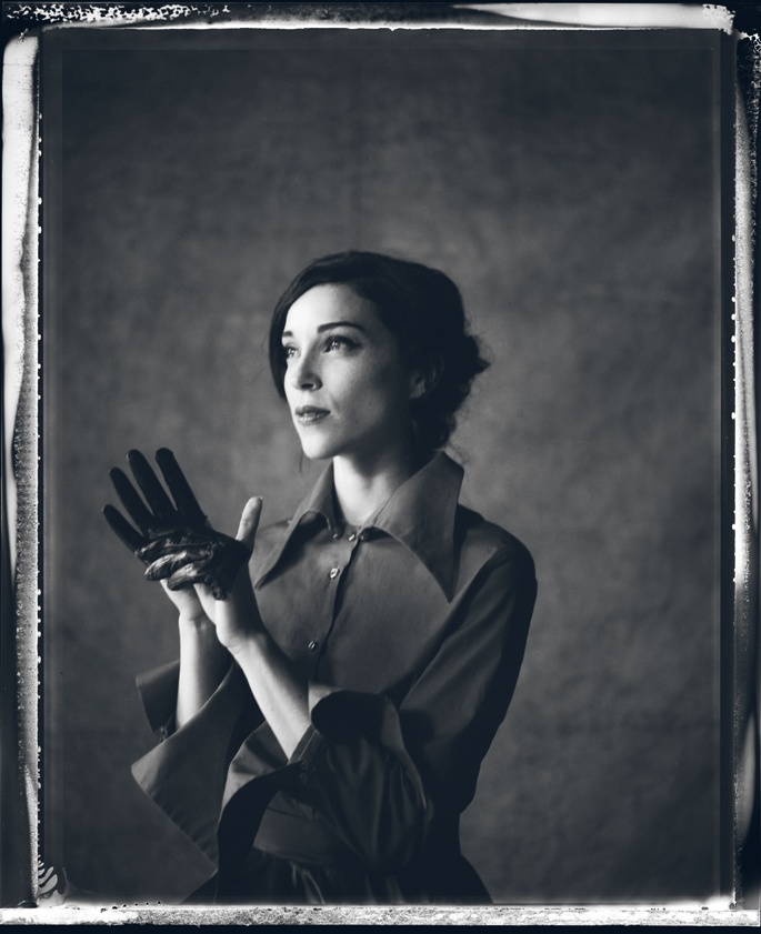 Annie Clark of St. Vincent / photo taken before David Byrne infected her with some very BAD ideas.