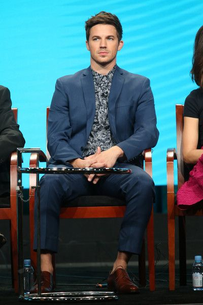 Matt Lanter Photos Photos - Actor Matt Lanter speaks onstage at the 'Timeless' panel discussion during the NBCUniversal portion of the 2016 Television Critics Association Summer Tour at The Beverly Hilton Hotel on August 2, 2016 in Beverly Hills, California. - 2016 Summer TCA Tour - Day 7