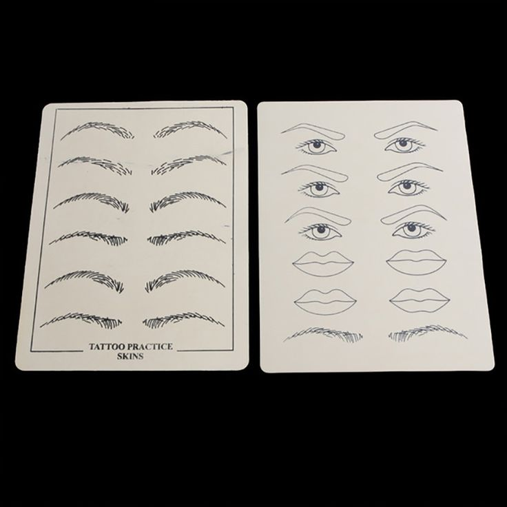 2.46$  Buy here - 2 Sheets Eyebrow Lips Tattoo Practice Skin Excellent Permanent Makeup Training Skin Set For Beginners   #bestbuy