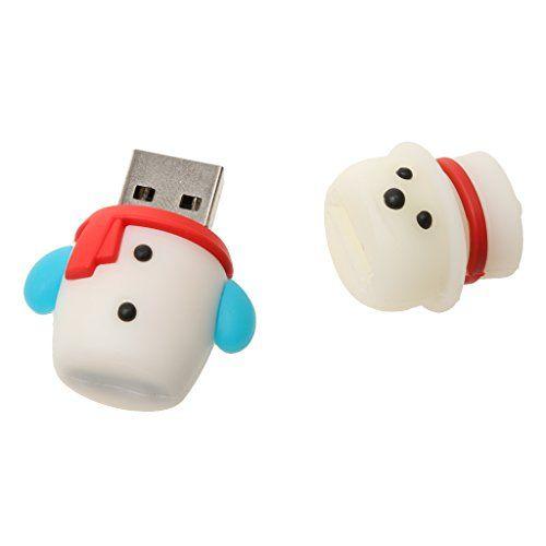 Clé USB USB 2.0 Flash Drive U Disque Stockage de Données Motif Noël: connexion USB, support Hot plug & alimentation externe Play.No requis.…