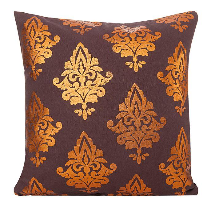 Miedziany wzór ozdobna poszewka na poduszkę w kolorze brązowym