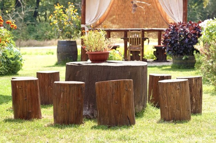 Diy tree stump table ideas how to make them tree stump