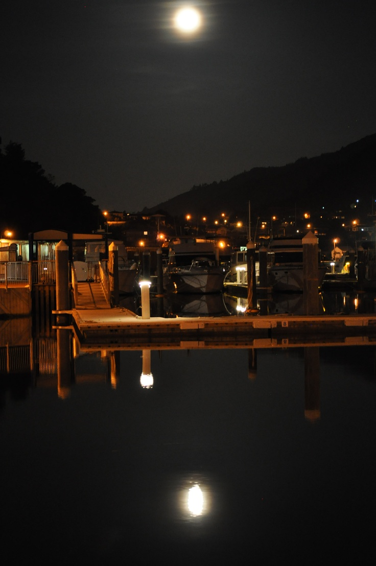 Picton marina before they got rid of the boat sheds