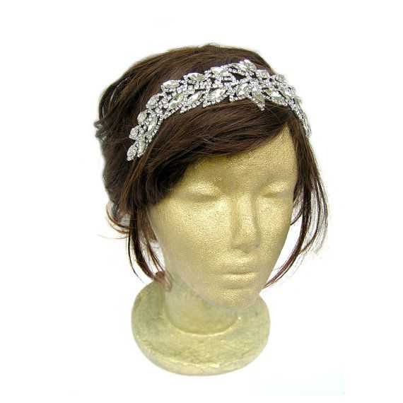Great Gatsby Leaf Headpiece 20s Headband Vintage by curtainroad