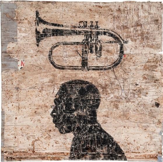 Tromba, 2013  mixed medium on paper, cm 100x100