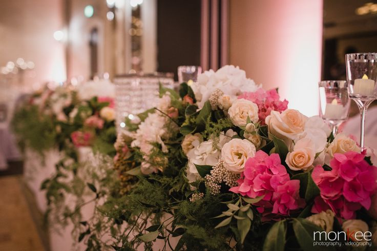 Pretty Florals - Beautiful Flowers - Bridal Table Inspiration - Royce Hotel Melbourne Wedding Venue