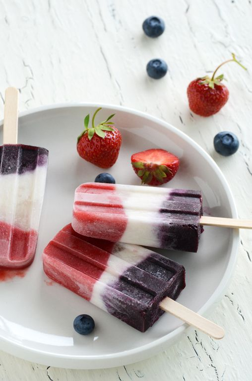 double berry + coconut pops