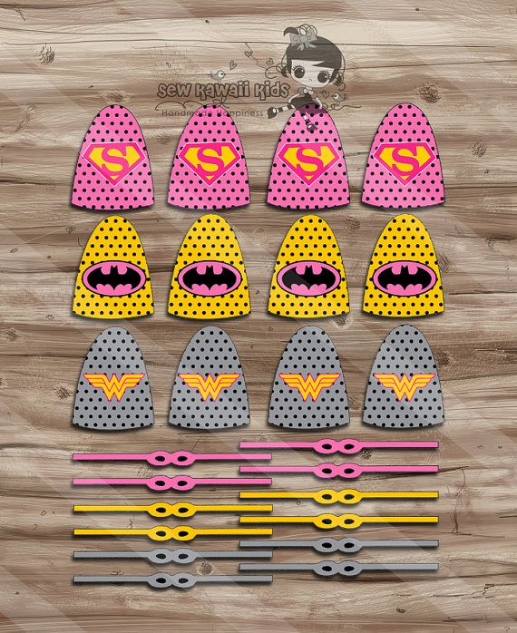 Superhero Girls Lollipops Superhero Capes and by SewKawaiiKids, $2.00