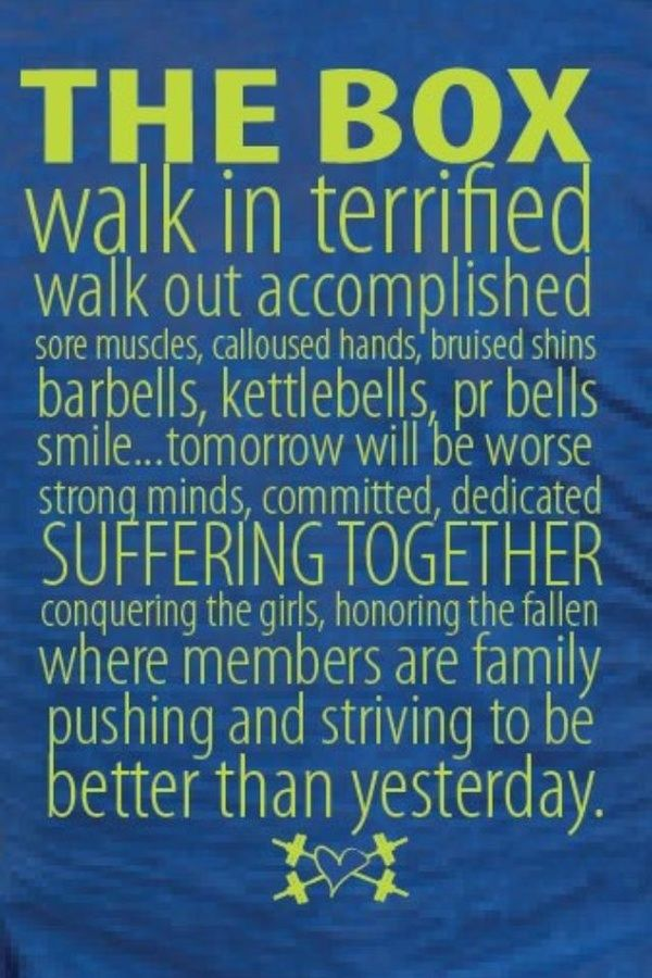 Crossfit...Yes !! I was terrified !!!