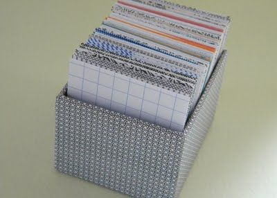 homework: today's assignment - be inspired {creative inspiration for home and life}: Inkling: scratch paper memo boxes
