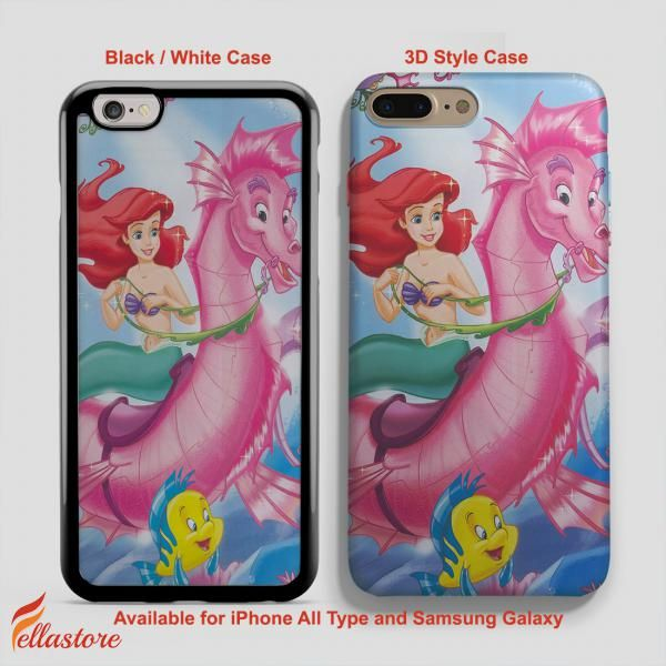 cool Disney Ariel Mermaid Pink iPhone 7-7 Plus Case, iPhone 6-6S Plus, iPhone 5 5S SE, Samsung Galaxy S8 S7 S6 Cases and Other