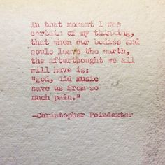 poems by christopher poindexter - Google Search