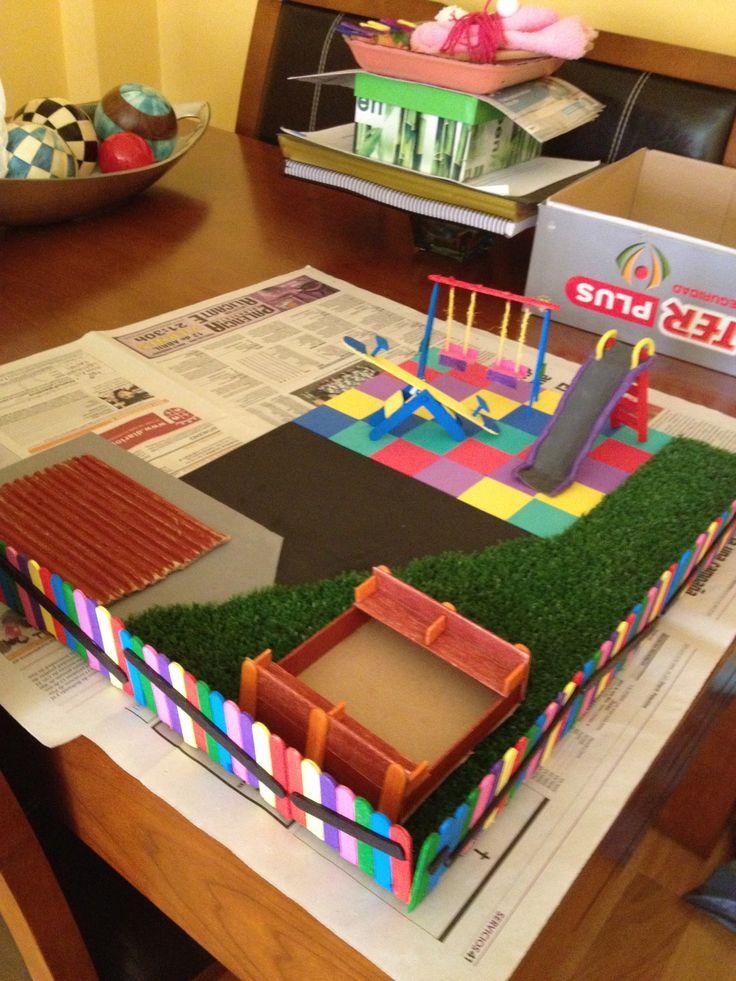 Maqueta de un parque infantil mi tablero de manualidades for Ideas para mi jardin