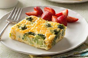 This cheesy oven-baked broccoli omelet may just be the easiest omelet you've ever made. It will certainly be one of the tastiest!