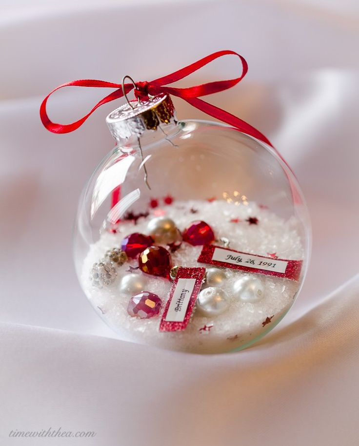 Christmas Ornament DIY Gift That Is A Gorgeous Personalized Keepsake