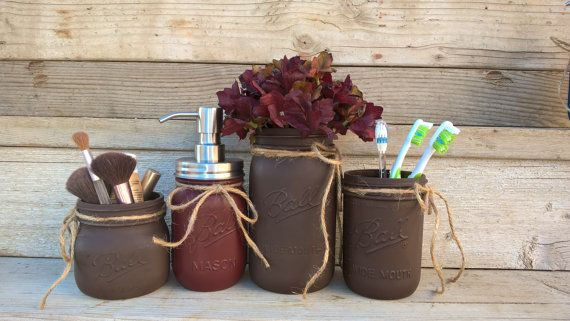 Primitive Bathroom Decor Mason Jar Bathroom by GodGirlsandGlitter