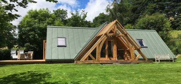 A most original holiday venue built by Arboreta Oak in a lovely rural setting.