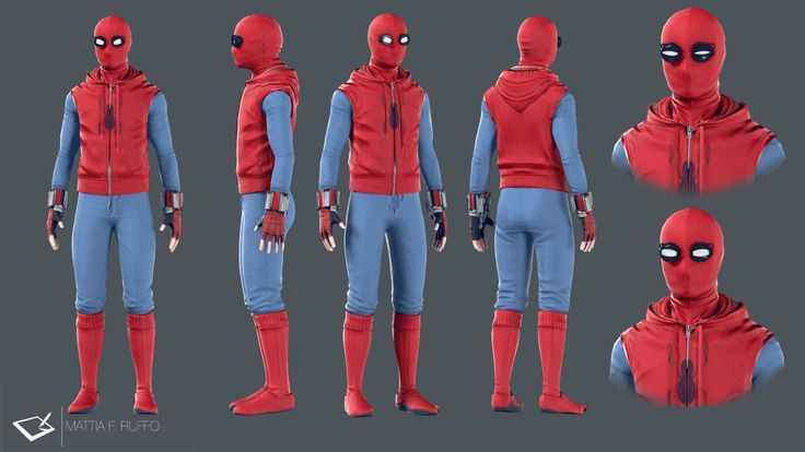 Spiderman Homecoming Homemade Suit, Mattia F. Ruffo on ArtStation at https://www.artstation.com/artwork/ARG6y - Visit to grab an amazing super hero shirt now on sale!