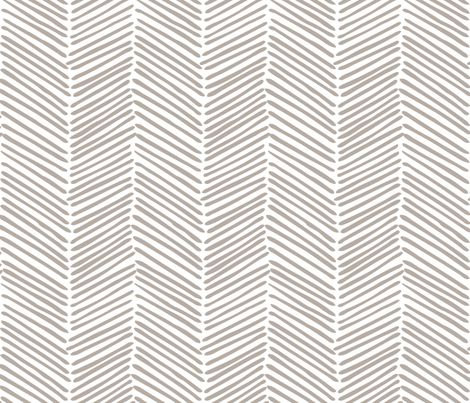 Freeform Arrows Large in greige fabric by domesticate on Spoonflower - custom wallpaper