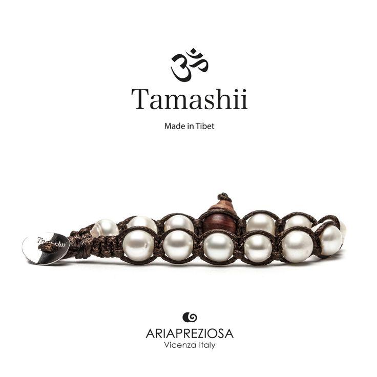 Bracciale originale tibetano Tamashii realizzato con PERLA NATURALE. Unisex e taglia unica.