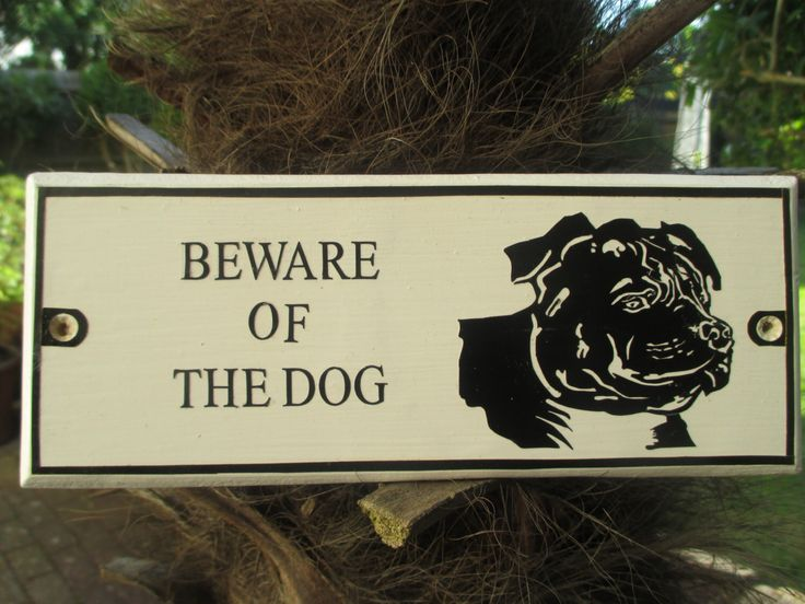 Beware of the Dog.  A staffordshire bull terrior wall plaque.  A simple, yet effective design that enhances any house. by ARoyalT on Etsy https://www.etsy.com/listing/236337573/beware-of-the-dog-a-staffordshire-bull