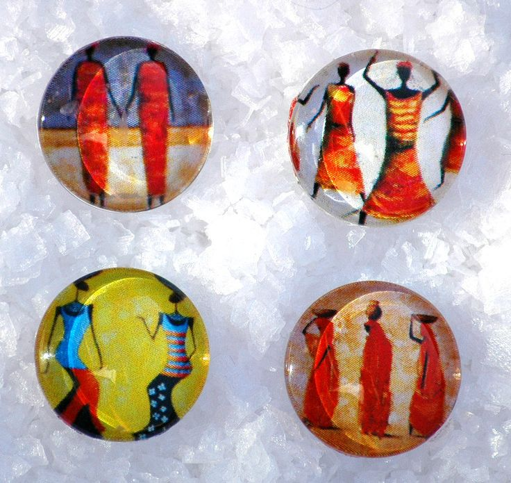 Colorful Africa Pattern Snap Jewelry Button Interchangeable Jewelry Noosa Style Snap Charm Chunk Popper Snap. The Price is for one unit. by Monibu on Etsy