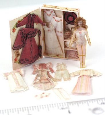 Victorian Lady and Wardrobe with Presentation Box