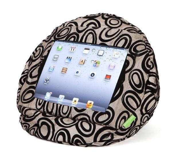 tabCoosh to suit iPads - velvet circles. tablet comfort - hardtofind.