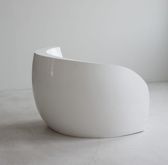 Fiberglass Chair In White | Chair . Stuhl . Chaise | Design: Vladimir Kagan  |
