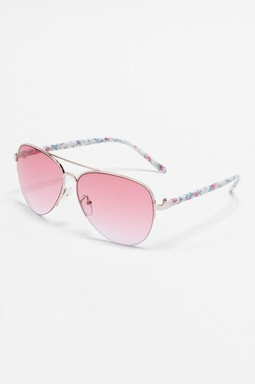 Aviator sunnies with floral arms #musthave #TALLYWEiJL