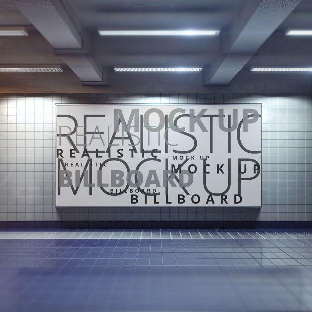 Poster mock up design Free Psd