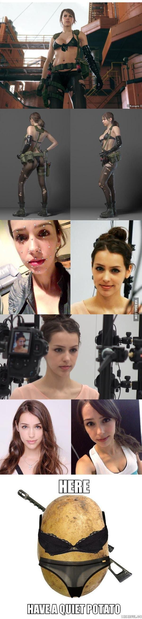 "Stefanie Joosten as ""Quiet"" in Metal Gear Solid V: The Phantom Pain"